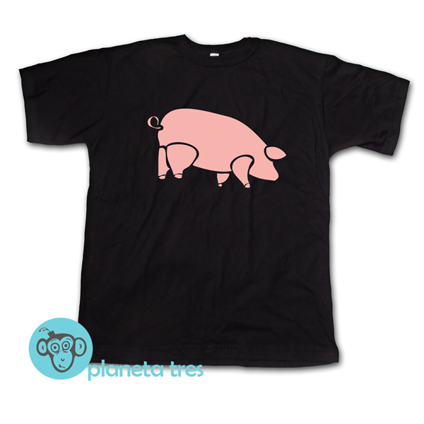 remera chancho pink floyd, argentina